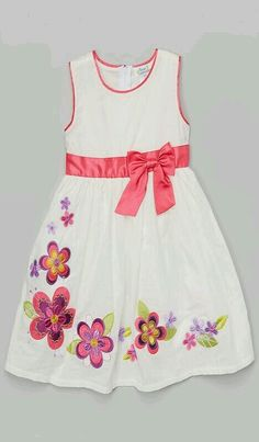 Check out zulily's daily selection of unique girls dresses, discounted up to Kids Frocks, Frocks For Girls, Little Girl Dresses, Girls Dresses, Toddler Girl Dresses, Toddler Girls, Girl Dress Patterns, Baby Dress, Cute Dresses
