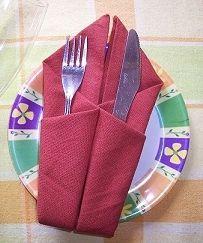 Geometric Pockets Napkin Fold - Festive Napkin Folding