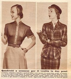 annabella - magazine moda - 14 ott 51 - vestiti in due pezzi
