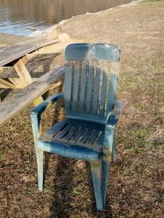 Actually found this in a lake so not really dumpster diving, but we are re-using this perfectly good chair (after clean up of course).