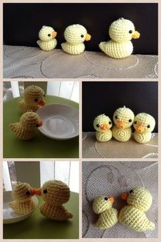 Little Ducks - Free Amigurumi Pattern here: http://ddscrochet.pixnet.net/blog/post/260889269: