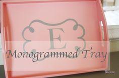 Monogrammed Tray