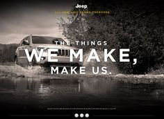 the things we make make us jeep print ads - Google Search