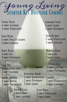 Young Living Starter Kit Diffuser Combos Member Number #3309848 Essential Oils