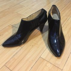 "Circa Joan & David 7.5 patent leather booties Circa Joan & David 7.5 patent leather booties,pumps, 2.5"" pointed heal. Nice condition, price tag sticky is stuck inside and a tiny scuff in heal. Very comfortable Joan & David Shoes Heels"