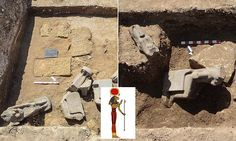 Archaeologists discover 66 statues of warrior goddess Sekhmet in Luxor