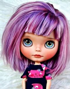 The purple hair is nice, but, love her eyes.