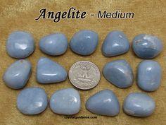 Angelite (medium) tumbled stone for crystal healing