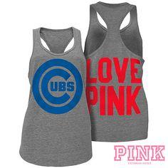 Chicago Cubs Victoria's Secret PINK® Heathered Racerback Tank - MLB.com Shop