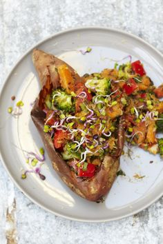 Stuffed Superfood Sweet Potatoes