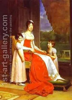 Marie Julie Bonaparte Queen Of Spain With Her Two Daughters - Baron Francois Gerard - Oil Painting Reproductions French History, Art History, European History, Ancient History, Florida State University, Roi Charles, First French Empire, Queen Of Sweden, Royals