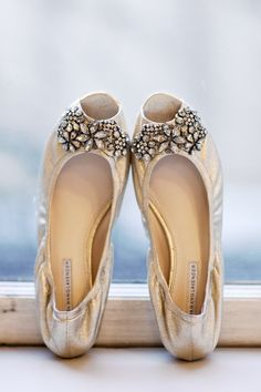 I definitely want to wear flats - I always feel more elegant and princess-like in them. I also love the idea of bejeweling them with vintage jewelry.
