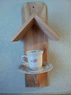 Tea Cup Bird Feeder...<3