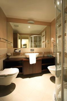 Bathrooms at the Falkensteiner Apartments Lake Garda Lake Garda, Apartments, Bathrooms, Mirror, Furniture, Home Decor, Decoration Home, Bathroom, Room Decor