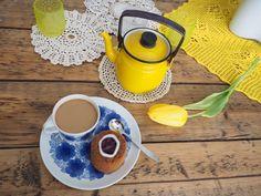 Keltainen kahvipannu