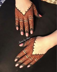 Simple Mehendi designs to kick start the ceremonial fun. If complex & elaborate henna patterns are a bit too much for you, then check out these simple Mehendi designs. Easy Mehndi Designs, Henna Hand Designs, Dulhan Mehndi Designs, Latest Mehndi Designs, Bridal Mehndi Designs, Mehndi Designs Finger, Arabic Henna Designs, Mehndi Designs For Girls, Mehndi Designs For Beginners