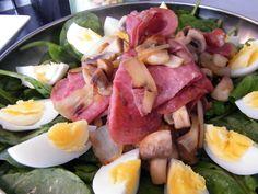 Mmmmmmmmmmm Lauwwarme spinazie salade - OhMyFoodness