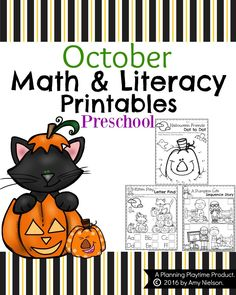 Make October Magical with these adorable October Preschool Worksheets - Fun Halloween themes to practice counting, alphabet letters, and much more.