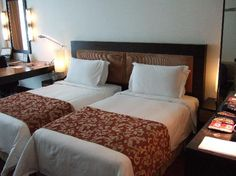 Interesting: Twin Beds, One Headboard