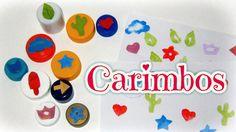 Como fazer Carimbos personalizados - #DIY #Stamps #carimbos #volta #aulas #ideias #artes