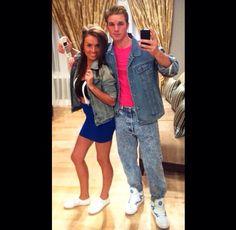 Kelly Kapowski & Zach Morris for Halloween! So cute!