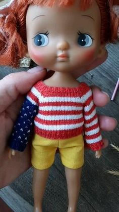 American Day, Kawaii Doll, Cute Toys, Miniature Dolls, Fourth Of July, Independence Day, Doll Clothes, Miniatures, Pasta