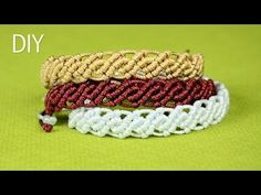 pulseras de hilo ancha | tutorial macrame | frienships bracelets - YouTube