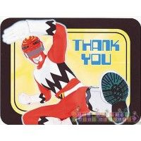 Power Rangers 'Red Ranger' Thank You Notes w/ Env. (8ct)