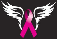 pictures of breast cancer awareness shirts with angel wings | Breast Cancer With White Angel Wings Car Auto Glass Wall Vinyl Sticker ...