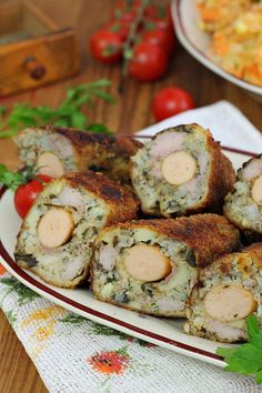 Polish Recipes, Shrimp, Sausage, Food And Drink, Meals, Chicken, Cooking, Yum Yum, Food