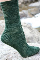 The traveling stitches on this sock remind me of waterfalls, with the cascading ribbing falling into a pool of purl stitches at the bottom of each repeat. Waterfalls are at their peak flow in the springtime here in the mountains. The snow is melting with lots of runoff, creating gorgeous scenery at a time when folks are just itching to get outside to do something other than ski or showshoe.