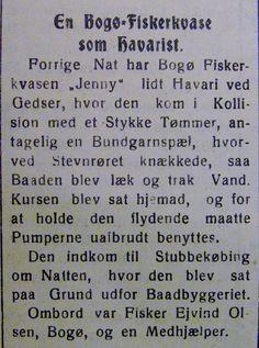JENNY, en fiskerkvase fra Bogø lider havari ved Gedser  24. april 1931. Ført af Ejvind Olsen. Fra Mia Gerdrups arkiv