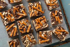 Chocolate Peanut Butter Pretzel Cookie Bars | Flourish - King Arthur Flour's blog