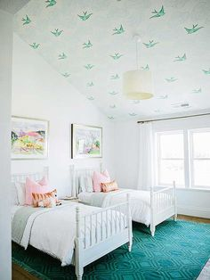 Superb White And Teal Kids Bedroom. White And Teal Bedroom. White And Teal Kids Bedroom  Decorating Ideas. White Teal Bedroom Kidsbedroom House Of Jade Interiors.