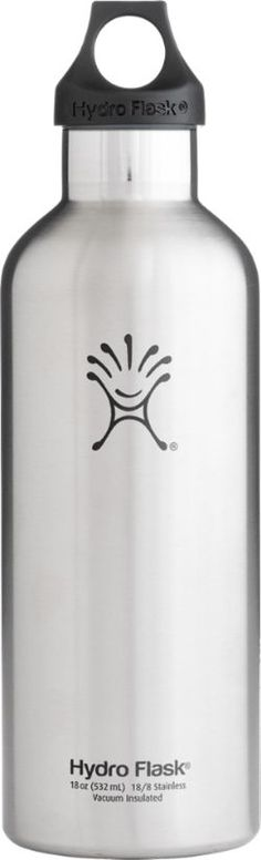 Hydro Flask Narrow-Mouth Vacuum Water Bottle - 18 fl. oz. Stainless Steel 18 Oz