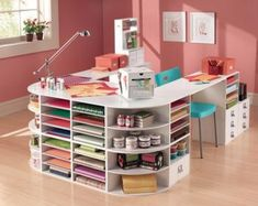 I really need this. Sewing on one side and Scrapbooking on the other!