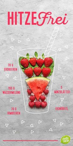 Recipe: prepare the summer smoothies yourself, in a cool place. Delicious and healthy drinks! Fruit Smoothies, Smoothie Drinks, Healthy Smoothies, Healthy Drinks, Smoothie Recipes, Best Smoothie, Smothie Bowl, Cooking Box, Healthy Recipes