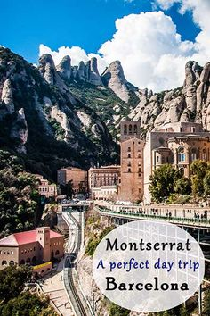 Montserrat Monastery - A perfect day trip from Barcelona. Montserrat is a multi-peaked mountain range near Barcelona, in Catalonia, Spain. It is part of the Catalan Pre-Coastal Range. European Vacation, European Travel, Vacation Spots, Visit Barcelona, Barcelona Travel, Barcelona Day Trips, Barcelona Vacation, Barcelona 2016, Places To Travel