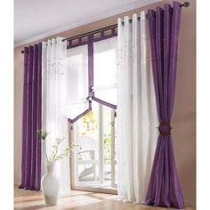 Voile / Vorhang »Korsika« in lila mit Kräuselband in 3 Größen NEU****(422328) | eBay