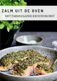 Salmon from the oven with parmesan herb crust - Beaufood - Salmon from the oven with parmesan spice, Healthy dinner, Salmon dinner, Beaufood recipes, Healthy - Pureed Food Recipes, Curry Recipes, Fish Recipes, Cooking Recipes, Clean Eating Diet, Clean Eating Recipes, Vegetable Soup Healthy, Healthy Recepies, Fish Dishes