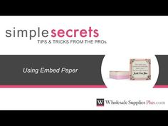 How to Use Embed Paper in MP Soap {Simple Secrets} - YouTube