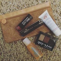 If anyone has been tempted to get an @ipsy Glam Bag subscription DO IT.  It's so fun to look forward to your custom package of new beauty products that you wouldn't normally buy but will positively fall in love with.  This month I got a new shade of lipstick an eye shadow trio brow tint ultra repair cream (perfect size for the purse) and a bottle of argan oil. AND the cute travel bag comes with it.  #steal #ipsyglambag #ipsy #septemberglambag by broganstegner