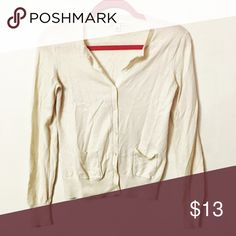 Banana Republic Cream Cardigan Comfy and extremely soft. In great condition! Banana Republic Sweaters Cardigans