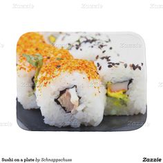 Sushi on a plate baby burp cloths