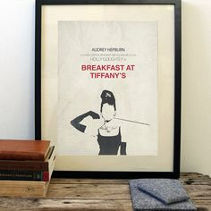 Breakfast at Tiffany's poster, minimalist movie poster