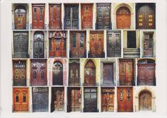 Ukrainian compilation of old doors. Postcard Украинский сборник старых дверей. Открытка. (http://galushki.com/index.php?route=product/product&path=60&product_id=134)