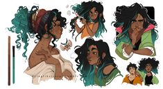 Éponine_model sheet I had so much fun drawing her ;;; Inspirational board!