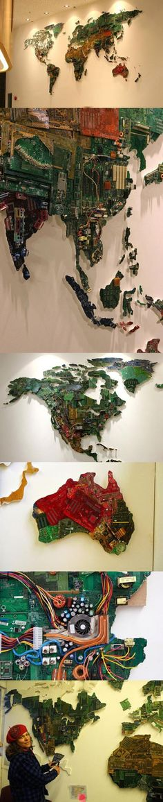 maps made from electronic waste
