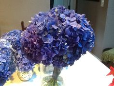 My fb friend Linda Nicolar..sent me this picture of the Wedding bouquet she created with the Hydrangea blooms we sent her in Hull MA.. This was her comment... Jim,I still can't get over how gorgeous these are. This is my hydrangea bridal bouquet.