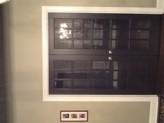 "Martha Stewart "" Sillouette"" paint French doors black"